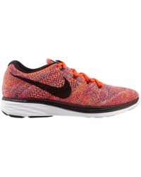 wholesale dealer 4e2a1 5aa8c Men s Red Flyknit Lunar 3 Running Shoes