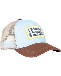 Marmot - Blue Retro Trucker Hat for Men - Lyst