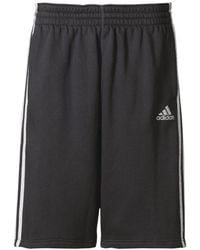 Adidas Originals - Black Slim Three Stripes Basketball Shorts for Men - Lyst