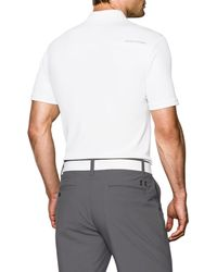 Under Armour - White Performance Polo for Men - Lyst
