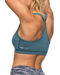 Roxy - Blue Nakkan Reversible Sports Bra - Lyst
