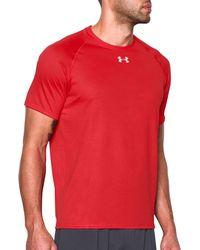 Under Armour - Red Locker T-shirt for Men - Lyst
