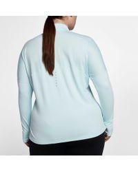 Nike - Blue Plus Size Dry Element 1⁄2 Zip Running Shirt - Lyst