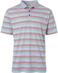 Linksoul - Blue Yarn Dyed Stripe Knit Rib Collar Polo for Men - Lyst
