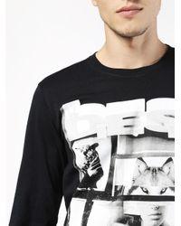 DIESEL - Black T-diego-fo for Men - Lyst