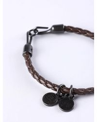 DIESEL - Brown Asanty Bracelet for Men - Lyst
