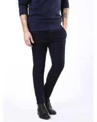 DIESEL - Blue Slim-chino-m Joggjeans 0680f for Men - Lyst