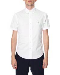 Polo Ralph Lauren - White Slim Fit Short Sleeve Sport Shirt for Men - Lyst