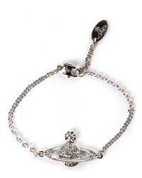 Vivienne Westwood - Metallic Mini Bas Relief Chain Bracelet Silver - Lyst