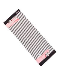 Kate Spade - Black Oblong Striped Scarf - Lyst