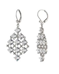 Carolee - Metallic Social Soiree Small Cz Kite Earrings - Lyst