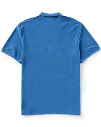 Calvin Klein - Blue Engineered Stripe Short-sleeve Polo Shirt for Men - Lyst