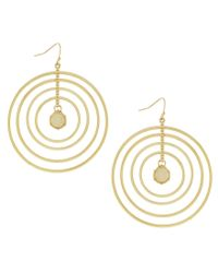 Jessica Simpson - Metallic Opalescence Multi Ring Earrings - Lyst