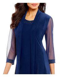 R & M Richards - Blue 2-piece Duster Jacket Dress - Lyst