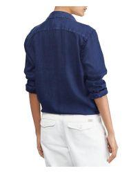 Polo Ralph Lauren - Blue Relaxed Fit Linen Shirt - Lyst
