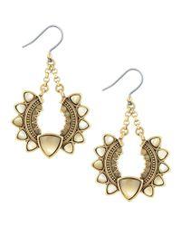 Lucky Brand   Metallic Sunburst Drop Earrings   Lyst