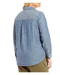 Levi's - Blue Plus Work Wear Boyfriend Shirt - Lyst