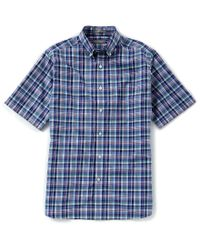 Cremieux - Blue Daniel Signature Pinpoint Plaid Short-sleeve Woven Shirt for Men - Lyst