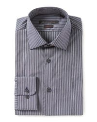 John Varvatos - Blue Star Usa Regular Fitted Classic-fit Spread Collar Striped Dress Shirt for Men - Lyst