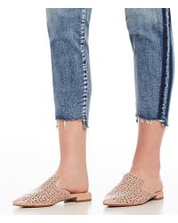 Steve Madden - Pink Steven By Valent Cutout Leather Mules - Lyst