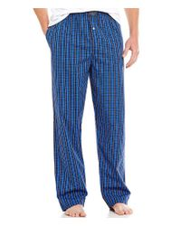 Polo Ralph Lauren - Blue Woven Plaid Pajama Pants for Men - Lyst