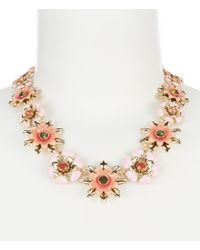 Anne Klein - Metallic Coral Flower Collar Necklace - Lyst