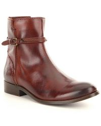 Frye - Brown Melissa Seam Buckle Short Boots - Lyst