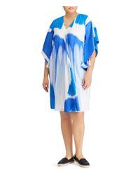 Lauren by Ralph Lauren - Blue Plus Crepe Shift Dress - Lyst