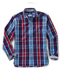 Psycho Bunny - Blue Plaid Brushed Flannel Long-sleeve Woven Shirt for Men - Lyst