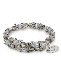 ALEX AND ANI - Metallic Shine Bright Celestial Moon Splendor Wrap Bracelet - Lyst