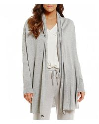 Lauren by Ralph Lauren | Gray Sweater-knit Wrap Cardigan | Lyst