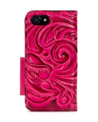 Patricia Nash - Pink Burnished Tooled Collection Alessandria Iphone 8 Wallet - Lyst