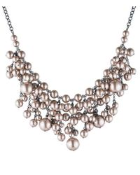 Carolee Pink Queen Of Gems Faux-pearl Statement Necklace