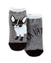 Kate Spade | Gray Frenchie No-show Socks | Lyst