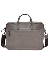Fossil - Gray Haskell Fabric Laptop Double Zip Brief for Men - Lyst