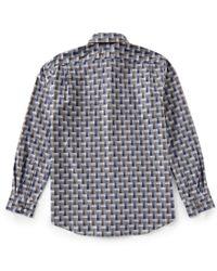 Hart Schaffner Marx - Gray Long-sleeve Multi Heather Check Sportshirt for Men - Lyst