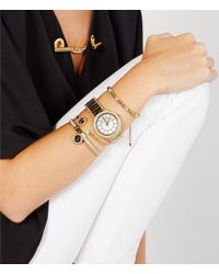 Michael Kors | Metallic Fulton Pavé And Cubic Zirconia Bangle Bracelet With Logo Charm | Lyst