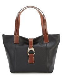 Dooney & Bourke - Black Derby Collection East/west Colorblock Shopper - Lyst