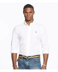 Polo Ralph Lauren - White Big & Tall Cotton Solid Poplin Shirt for Men - Lyst