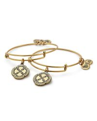 ALEX AND ANI - Metallic Infinite Connection 2-piece Bangle Bracelet Set - Lyst