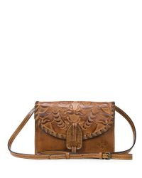 Patricia Nash - Metallic Burnished Tooled Collection Lanza Convertible Cross-body Bag - Lyst