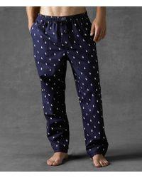 Polo Ralph Lauren   Blue Allover Pony Sleep Pant for Men   Lyst