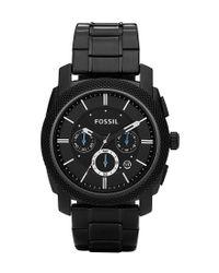 Fossil | Machine Black-dial Chronograph Watch | Lyst
