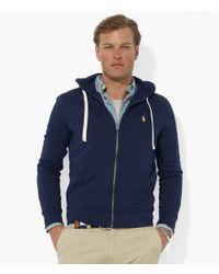 Polo Ralph Lauren | Blue Classic Solid Fleece Hoodie Jacket for Men | Lyst
