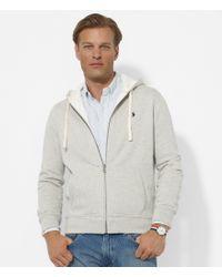 Polo Ralph Lauren | White Classic Solid Fleece Hoodie Jacket for Men | Lyst
