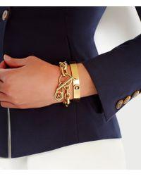 Michael Kors | Metallic Logo-lock Charm Bracelet | Lyst