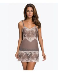 Wacoal | Gray Embrace Lace Chemise | Lyst