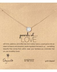 Dogeared | Metallic Pearls Of Love Freshwater Pearl Delicate Gold Dipped Necklace | Lyst