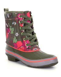 The Sak | Green Duet Duck Rain Boots | Lyst