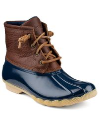 Sperry Top-Sider | Brown Top-sider Saltwater Women's Waterproof Cold Weather Duck Booties | Lyst